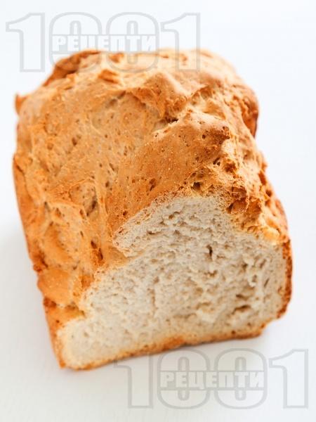 Хрупкав хляб с грис за хлебопекарна - снимка на рецептата